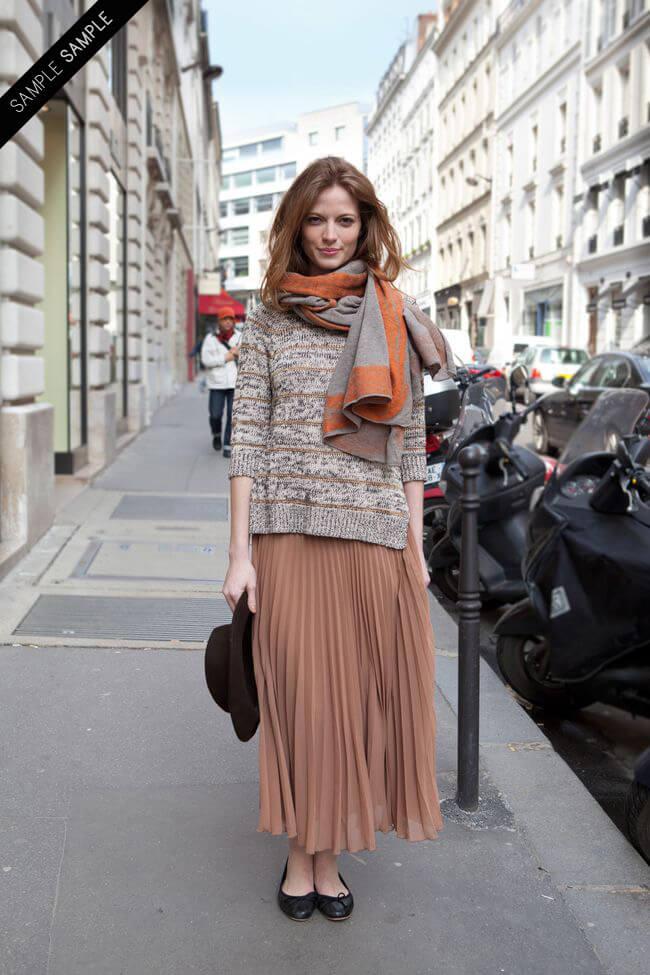 с чем носить юбку плиссе осенью