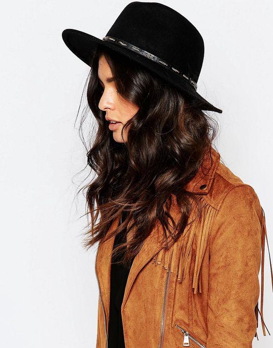 шляпа ФЕДОРА с коричневой косухой