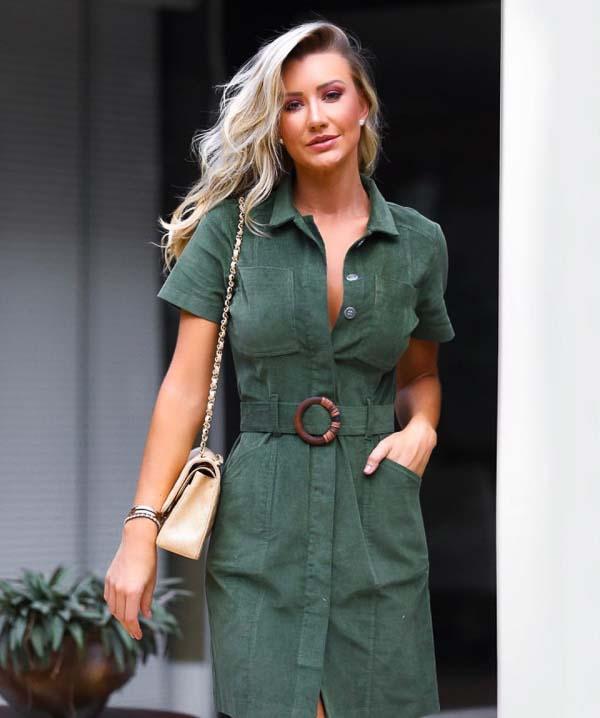 как носить платье рубашку темно зеленая