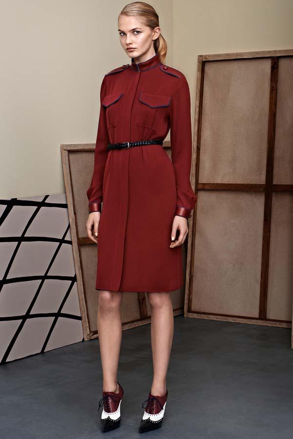 как носить платье рубашку бордовое