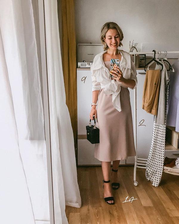 прямая юбка миди розовая