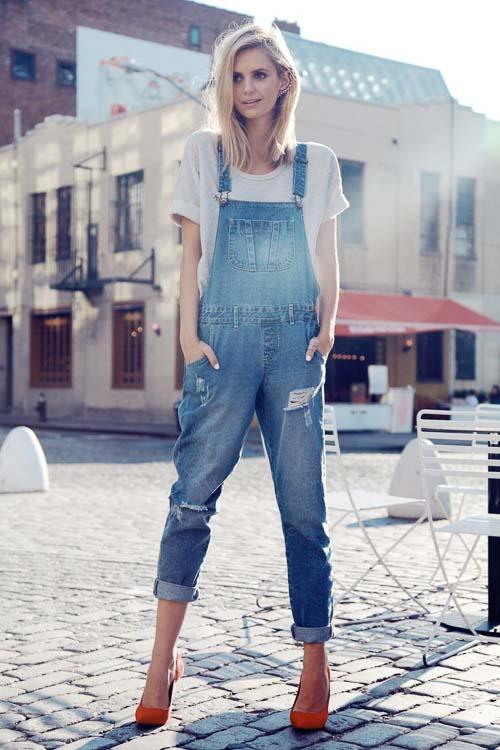 джинсовый рабочий комбинезон