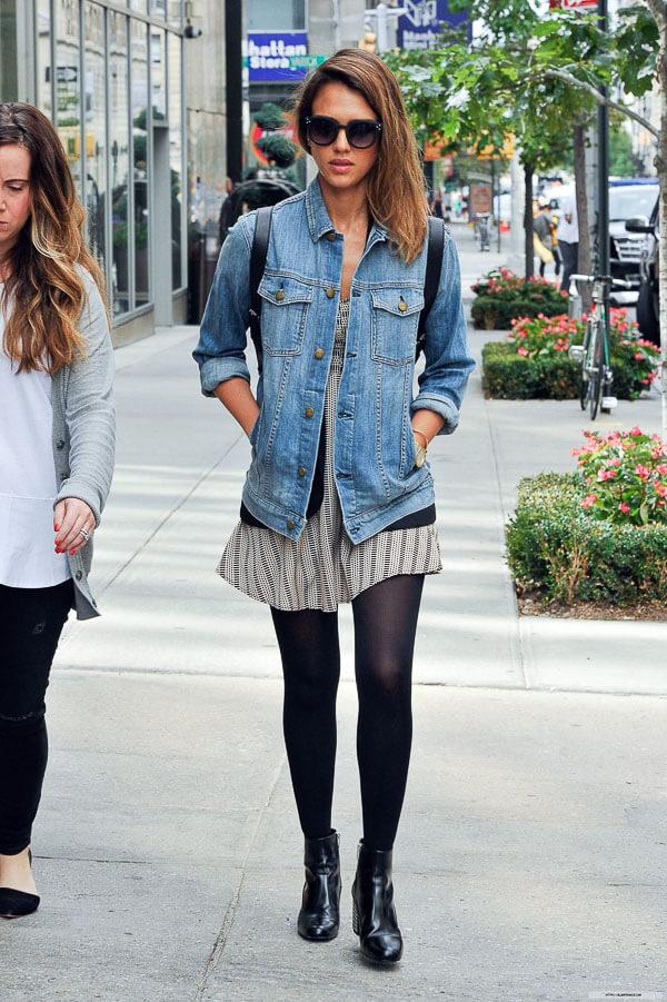 джинсовая куртка с ботинками