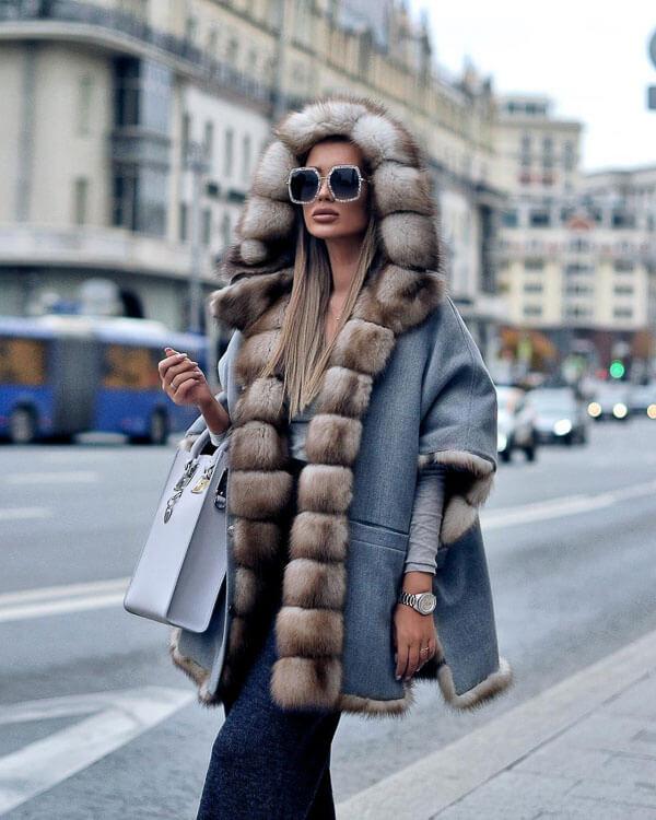 джинсовая куртка зимой в мехах