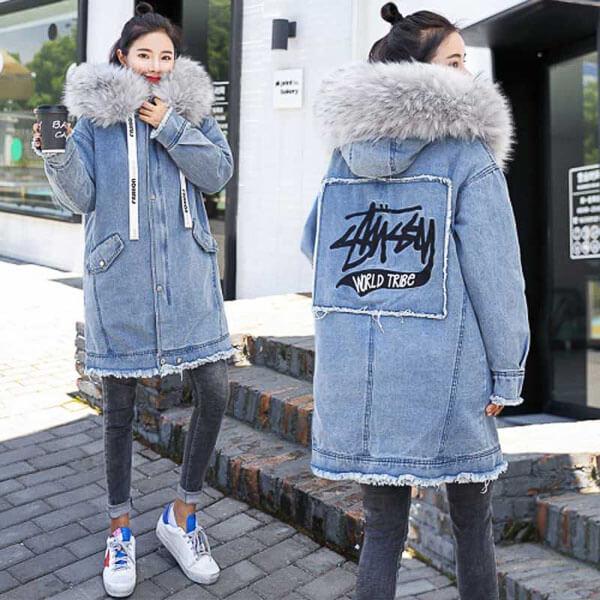 джинсовая куртка зимой длинная