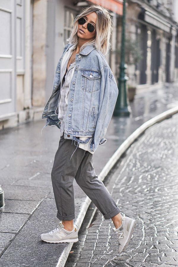 джинсовая куртка с мокасинами