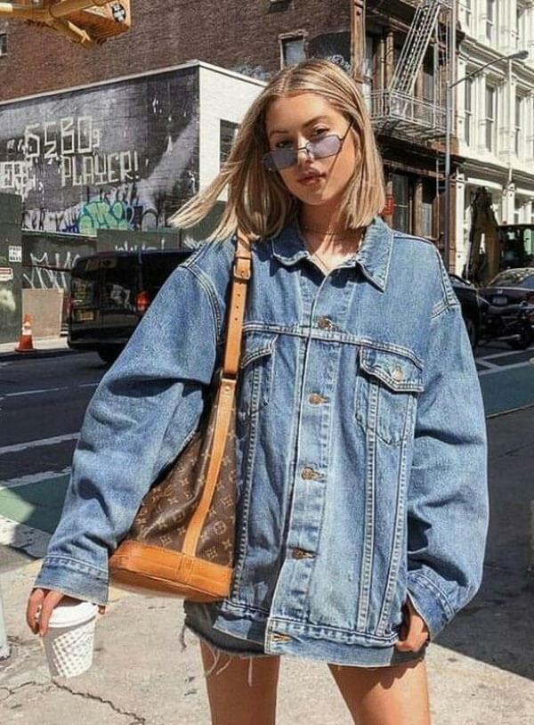 джинсовая куртка с сумкой луи