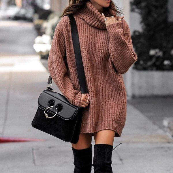 гетры с объемным свитером