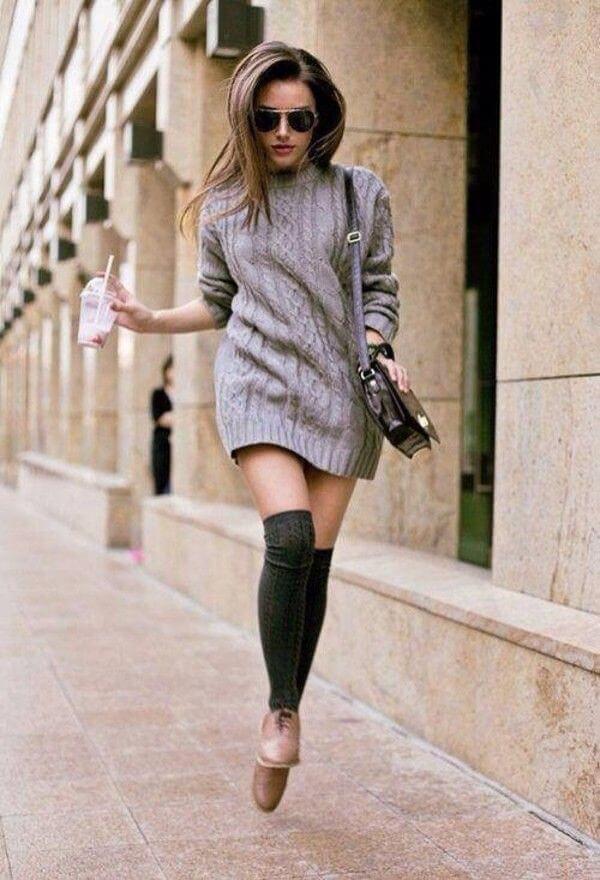 гетры с платьем свитером