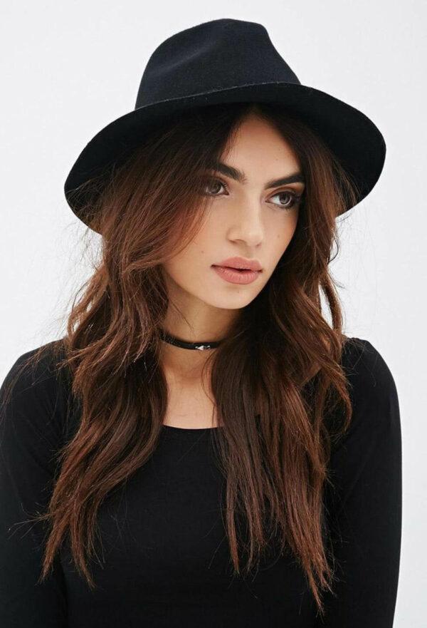 с чем носить шляпу федора фетр черный