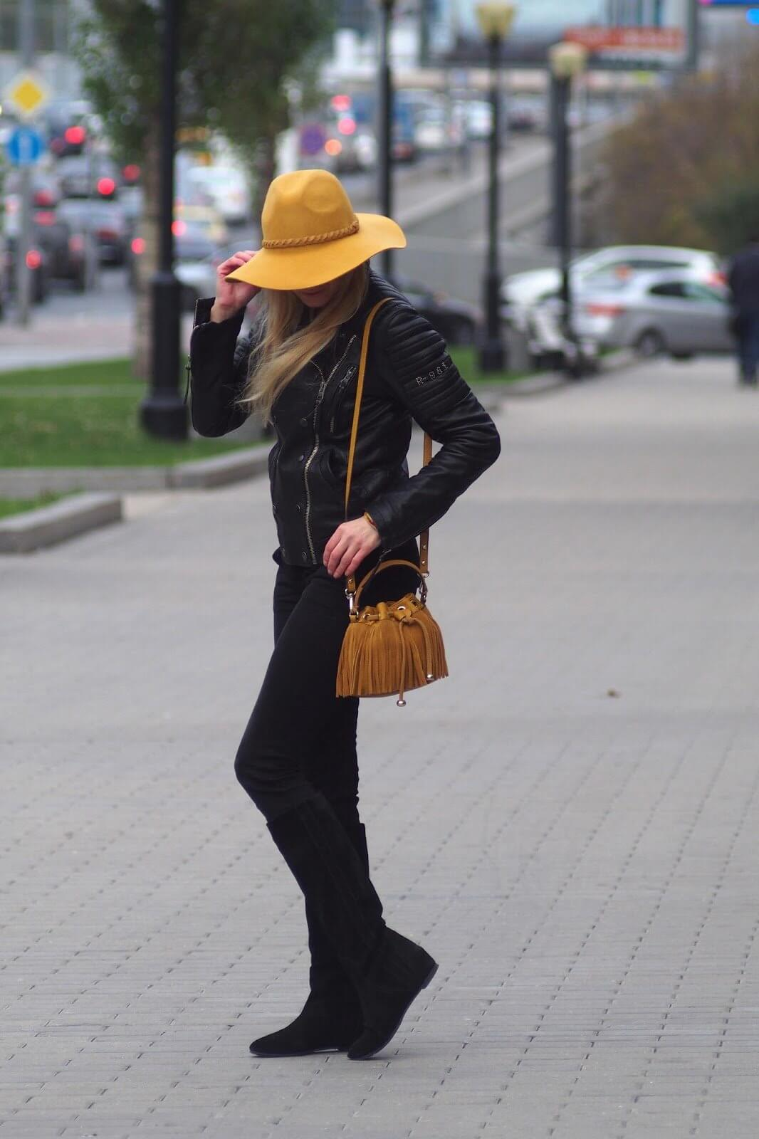 с чем носить шляпу федора желтую