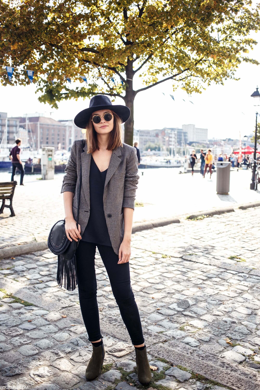 с чем носить шляпу федора черную с пиджаком