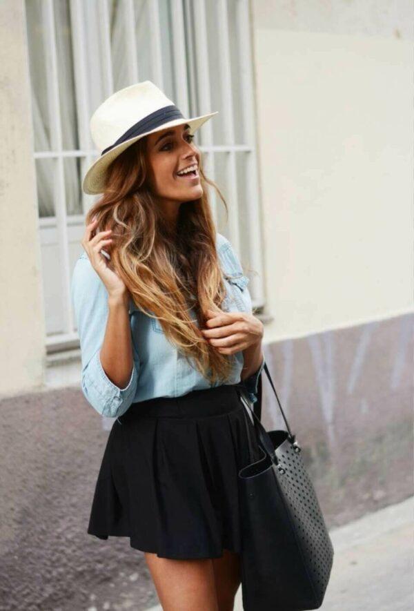 с чем носить шляпу федора с джинсовой рубашкой